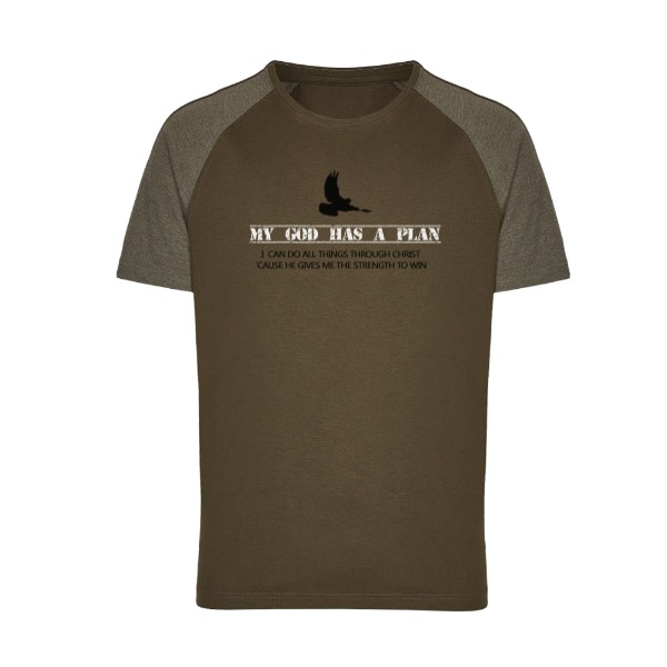 Tričko s potiskem ARMY god has a plan