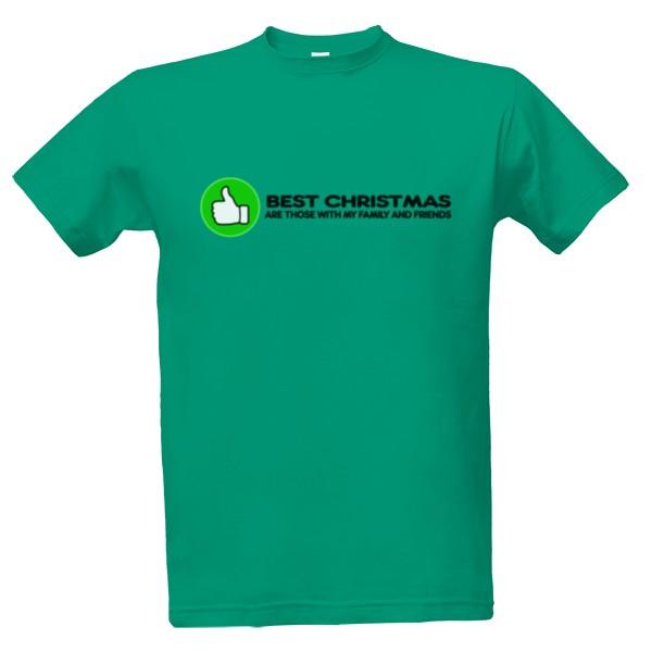 Tričko s potiskem BEST CHRISTMAS