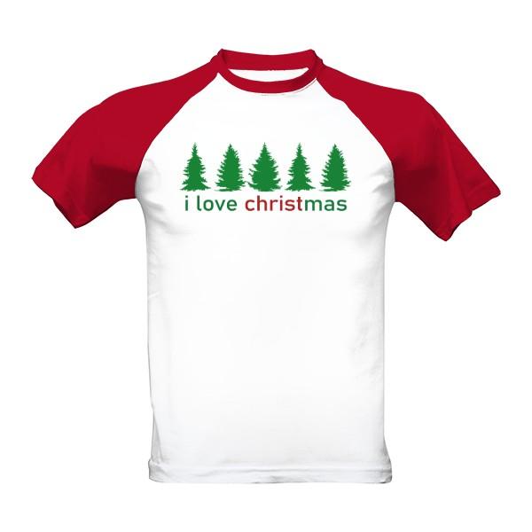 Tričko s potiskem I LOVE CHRISTMAS